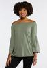 Embroidered Bell Sleeve Top alternate view