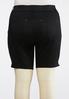 Plus Size Curvy Black Denim Bermuda Shorts alternate view