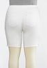 Plus Size Curvy White Denim Bermuda Shorts alternate view