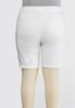 Plus Size Distressed Bermuda Denim Shorts alternate view