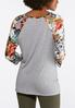 Knotted Floral Sleeve Top alternate view