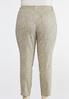 Plus Size Neutral Animal Print Jeans alternate view