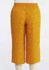 Plus Size Cropped Golden Dot Pants alternate view