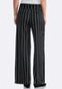 Petite Stripe Belted Palazzo Pants alternate view