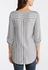 Plus Size Mixed Stripe Tie Front Top alternate view
