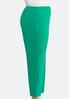 Plus Size Green Slim Ankle Pants alternate view