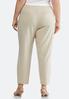 Plus Size Slim Zip Pocket Pants alternate view