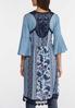 Plus Size Printed Crochet Trim Vest alternate view