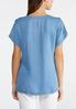 Button Shoulder Chambray Top alternate view