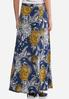 Plus Size Puff Floral Maxi Skirt alternate view