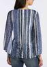 Patterned Bell Sleeve Burnout Top alternate view