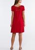 Plus Size Red V- Neck Dress alternate view