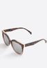 Gray Tortoise Mirrored Sunglasses alternate view