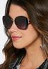 Classic Black Square Sunglasses alternate view