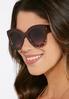 Gold Trim Oval Sunglasses alternate view