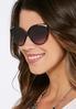Leopard Inner Cateye Sunglasses alternate view