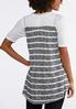 Stripe Lace Yoke Vest alternate view
