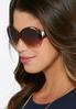 Gold Trim Tortoise Sunglasses alternate view