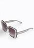 Gray Lucite Square Sunglasses alternate view