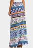 Plus Size Geo Floral Maxi Skirt alternate view