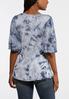 Plus Size Tie Dye Flutter Sleeve Top alternate view