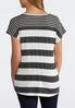 Plus Size Mix Stripe Tie Front Top alternate view