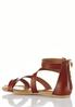 Wide Width Double Buckle Crossband Sandals alternate view