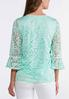 Plus Size Pearl Embellished Lace Top alternate view