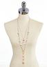Layered Pearl Tassel Necklace alternate view
