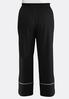 Plus Size Solid Piped Palazzo Pants alternate view
