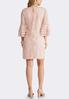 Plus Size Pink Lace Ruffle Sleeve Dress alternate view