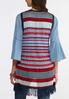 Plus Size Americana Fringe Sweater Vest alternate view