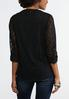Lace Mesh Popover Top alternate view
