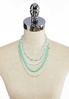 Layered Mist Green Bead Necklace alternate view