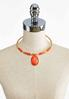 Faux Suede Wrapped Wire Pendant Necklace alternate view