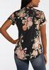 Plus Size Delicate Floral Pullover Top alternate view