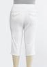 Plus Petite Curvy White Cropped Jeans alternate view