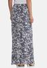 Puff Floral Stripe Maxi Skirt alternate view