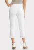 White Inset Cropped Jeans alternate view