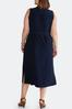 Plus Size Navy Tie Waist Midi Dress alternate view