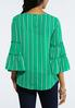 Plus Size Green Ruffled Top alternate view