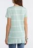 Plus Size Striped High- Low Tee alternate view