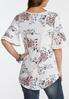 Plus Size Ruffled Paisley Blossom Top alternate view