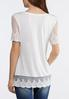 Plus Size Embroidered Mesh Trim Top alternate view