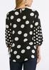 Plus Size Black And White Dotted Top alternate view