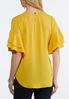 Plus Size Citrus Ruffled Sleeve Top alternate view