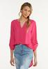 Plus Size Extreme High- Low Popover Top alt view
