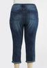 Plus Size Distressed Reversed Wash Jeans alternate view
