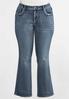 Plus Size Cross Pocket Jeans alternate view