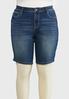 Plus Size Denim Bermuda Shorts alternate view